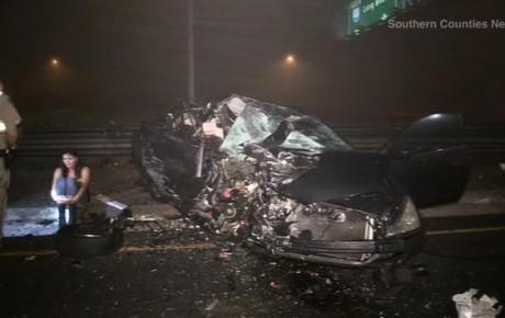 costa mesa crash wrong way 405